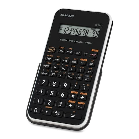 Sharp EL501XBWH 10-Digit Engineering/Scientific Calculator with LCD Display