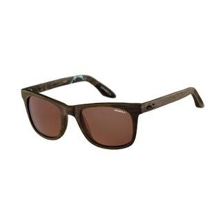 O'Neill SHAKA RX 103 Matte Aqua Fleck Brown Polarized Sunglasses Wood Look Frame - matte aqua fleck brown