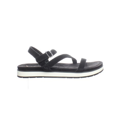Koolaburra Womens Haisley Black Sandals Size 8