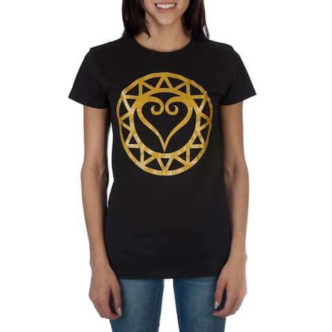 Kingdom Hearts Metallic Gold Women's Shirt