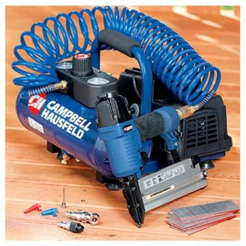"Campbell Hausfeld FP209897DI Air Compressor with 2"" Brad Nailer/Stapler, Gallon"