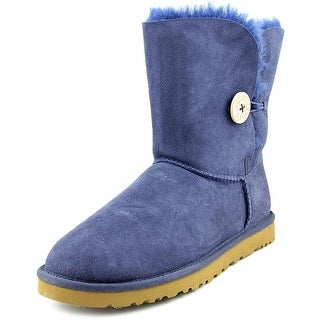 Ugg Australia Bailey Button Women  Round Toe Suede Blue Winter Boot