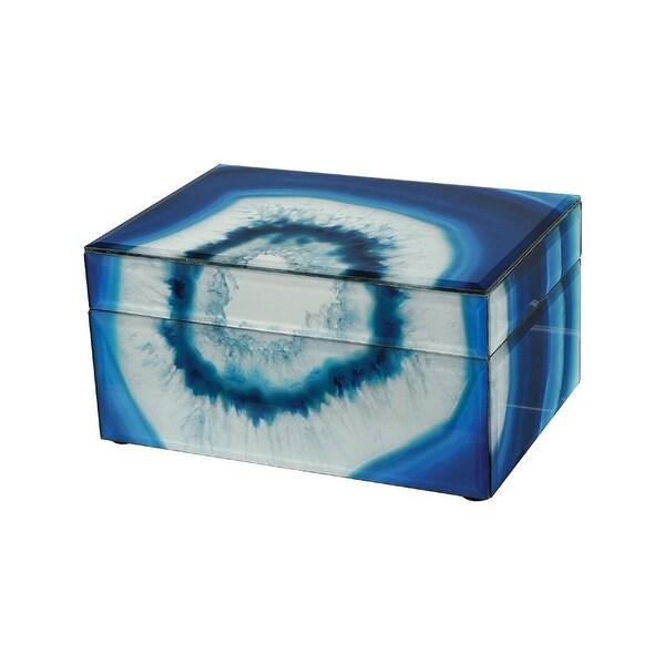 """4"""" Blue Marara Ornamental Box - N/A"""