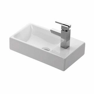 "WS Bath Collections Minimal 4057 Minimal 17-9/10"" Wall Mounted Bathroom Sink - White - N/A"