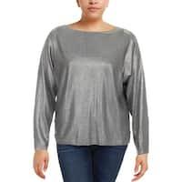 Lauren Ralph Lauren Womens Sweater Metallic Sparkly