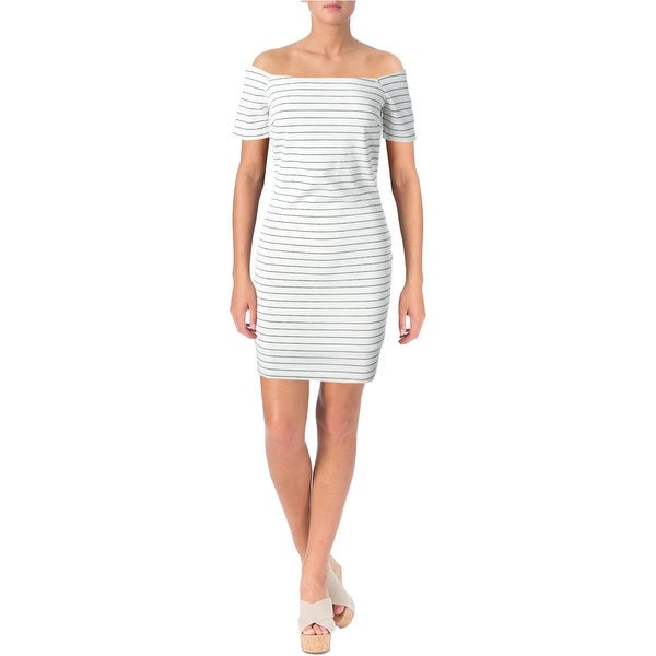 Lucy Paris Womens Cocktail Dress Striped Mini