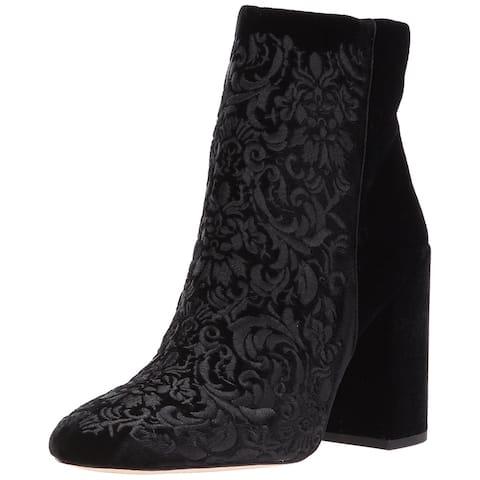 f81cdee2fd7 Jessica Simpson Womens JS-WOVELLA Fabric Almond Toe Ankle Fashion Boots