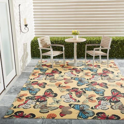 Nourison Home & Garden Butterfly Indoor/Outdoor Area Rug