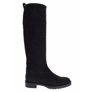 Dolce & Gabbana Gray Suede Goatskin Flat Boots - 41