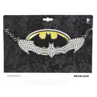 Batman Logo Rhinestone Bling Choker Necklace