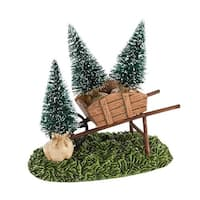 "Department 56 Snow Village ""My Garden Wheelbarrow"" Accessory #4030918 - green"
