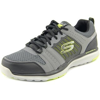 Skechers Quick Shift TR Men Round Toe Leather Gray Sneakers