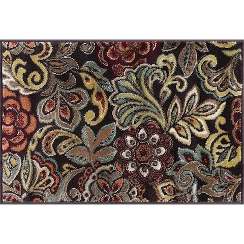 Alise Rugs Decora Contemporary Floral Rug
