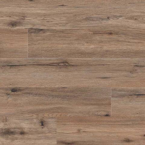 "MSI VTR7X48-6.5MM-20MIL-OAK Prescott 7-1/8"" Wide Waterproof Smooth Oak-Imitating Luxury Vinyl Planks -"