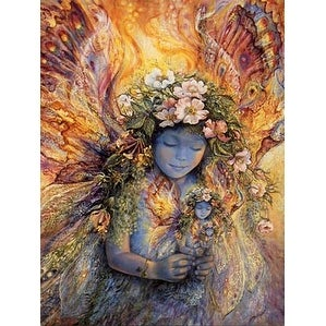 ''The Fairy's Fairy'' by Josephine Wall Fantasy Art Print (36 x 24 in.)
