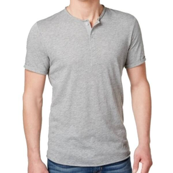b31a220ac9b American Rag NEW Gray Mens Size Large L Henley Short-Sleeve Shirt