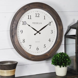 Link to FirsTime & Co. Barnes Wall Clock, American Crafted, Rustic Brown, Wood, 16 x 1 x 16 in - 16 x 1 x 16 in Similar Items in Decorative Accessories