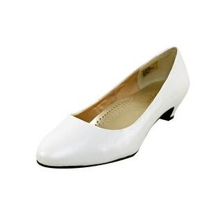 Heavenly Comfort Relax Women N/S Round Toe Leather Heels