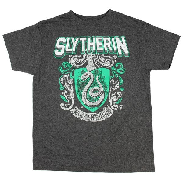 Harry Potter Gifts Kids Birthday Gift Idea Childrens Clothes Boys Fashion Top Harry Potter Slytherin Crest Boys T-Shirt Official Merchandise Ages 3-13