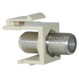 Offex Keystone Insert, Beige, F-pin Coaxial Connector, F-pin Female Coupler