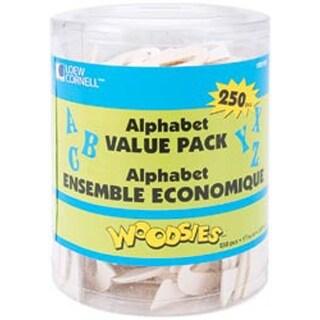 "Natural 1.5625"" - Woodsies Alphabet 250/Pkg"