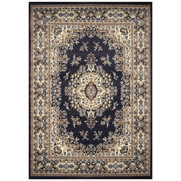 Traditional Oriental Medallion Rug Navy Blue - 2' x 3'. Opens flyout.
