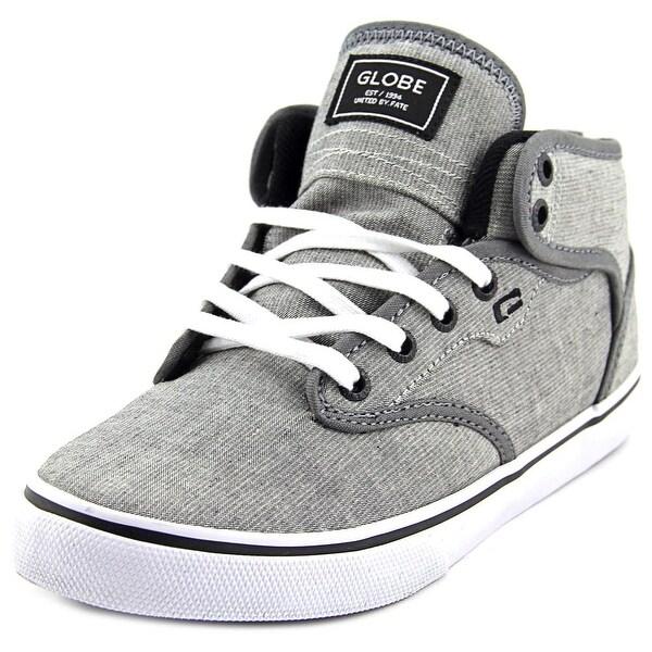 70aa6aeb56fa Shop Globe Motley Mid Men Round Toe Canvas Gray Skate Shoe - Free ...