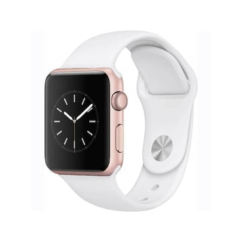 Apple Watch Series 1 38mm Rose Gold Aluminum Case & White Band (Refurbished)