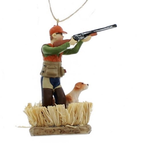 Duck Hunter with Dog Ornament