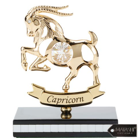 Matashi 24K Gold Plated Zodiac Astrological Sign Capricorn Figurine