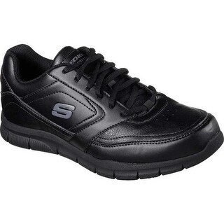 Skechers Men's Work Relaxed Fit Nampa Slip Resistant Sneaker Black
