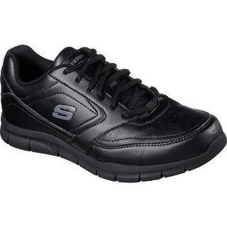 Skechers Men's Work Relaxed Fit Nampa Slip Resistant Sneaker Black