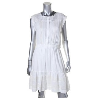 Rebecca Taylor Womens Cotton Eyelet Sundress - 8