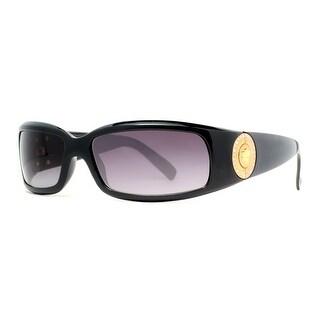 VERSACE Rectangular VE 4044B Women's 870/8G Black/Gold Grey Gradient Sunglasses - 60mm-15mm-120mm