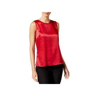 Kasper Womens Blouse Satin Sleeveless