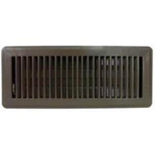 "Mintcraft FR01-4X12B Floor Register, 4"" x 12"", Brown"