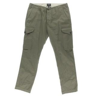 Todd Snyder Mens HerringBone Flat Front Cargo Pants