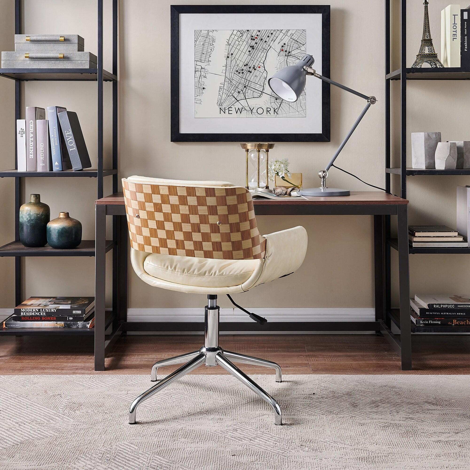 Shop Carbon Loft Nasim Height Adjustable Swivel Accent Home Office Desk Chair Overstock 30668080