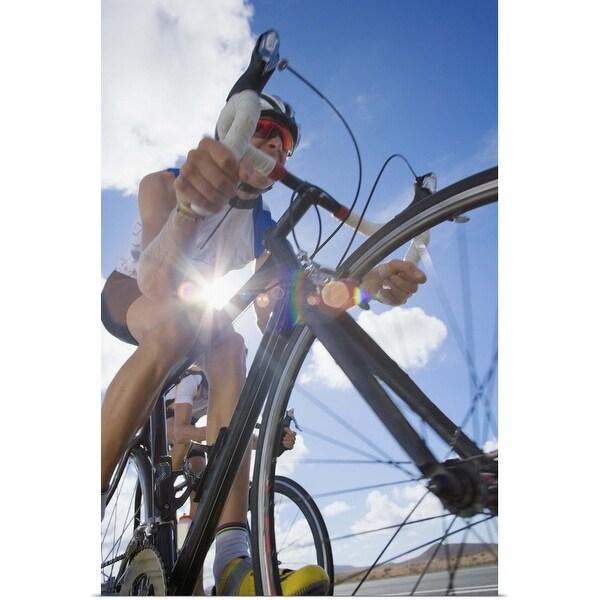 """""""Person bike riding"""" Poster Print"""