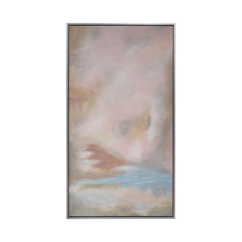 "Dimond Home 7011-1474 Pink Break 64"" x 34"" Framed Painting on Hand Stretched Canvas"