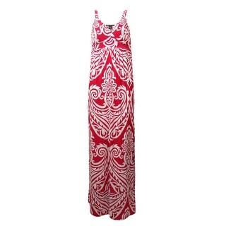 INC International Concepts Women's Print Jersey Maxi Dress - red/white - xs
