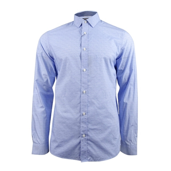 164d6e46717466 Shop Michael Kors Men s Slim-Fit Swirl-Print Shirt (L