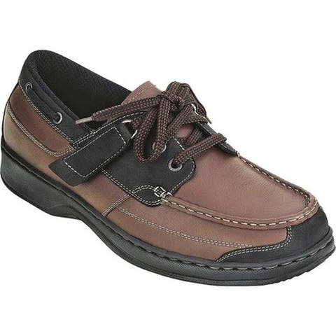 Orthofeet Men's Baton Rouge Brown Leather