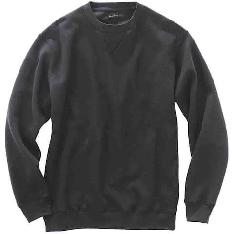 River's End Crew Neck Sweatshirt Mens Athletic Sweatshirt Pullover - Black
