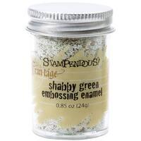 Stampendous Frantage Embossing Shabby Enamels, Green Color