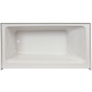 "Jacuzzi J1S6036BLXXRS Signature 60"" Acrylic Soaking Bathtub for Alcove Installations with Left Drain - White"