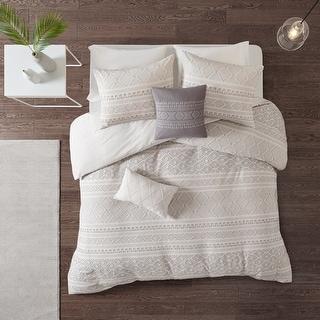 Link to Urban Habitat Bailey 5 Piece Cotton Clip Jacquard Duvet Cover Set Similar Items in Duvet Covers & Sets