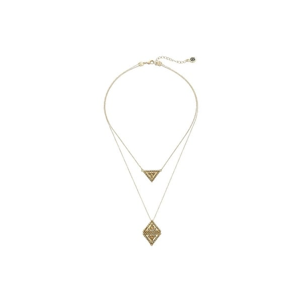 House of Harlow by Nicole Richie Womens Central Highlands Pendant Necklace - GOLD