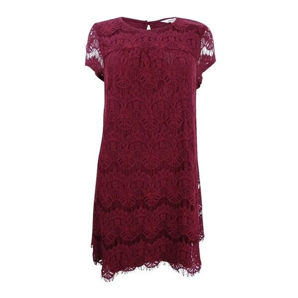 3abba9b3cd6 Shop Speechless Juniors  Lace Scallop Hem Shift Dress (M