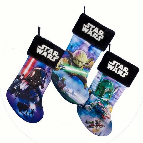 Star Wars Applique Stocking Set of 3